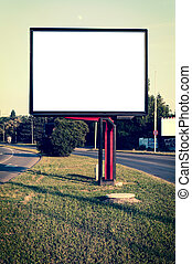 Street billboard - White and blank street billboard