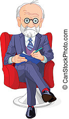 Psychiatrist - Psychiatrist at a session of psychoanalysis...