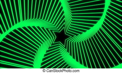 Star Radiation green - The star glow rotating animation...
