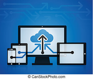 Cloud Technology - Cloud technology background concept.