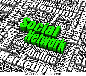 Social Networking - Group of Social Networking related words...