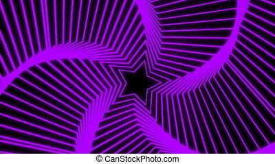 Star Radiation purple - The star glow rotating animation...