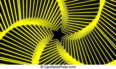 Star Radiation yellow - The star glow rotating animation...