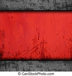 background red metal texture iron grunge wall old rusty rust...