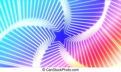 Star Radiation colorful background