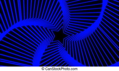 Star Radiation colorful - The star glow rotating animation...