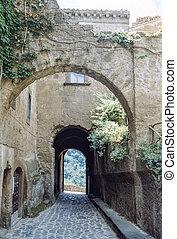 Civita di Bagnoregio (Viterbo, Lazio, Italy), arches