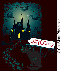 Invitation for Halloween paty