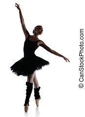 Female ballet dancer - Silhouette of a beautiful female...