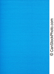 Corrugated fiberboard - Texture of a blue corrugated...