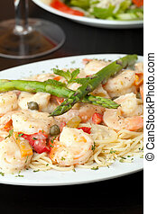 Shrimp Scampi with Spaghetti - A delicious shrimp scampi...