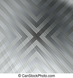 Chevron Brushed Metal Background