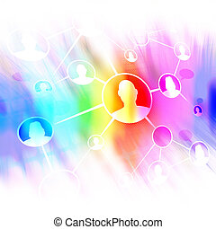 Social Networking Friends Diagram - A flow chart diagram of...