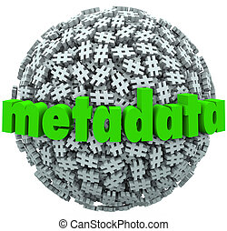 Meta Data Number Pound Hash Tag Sphere Metadata Hashtags - A...