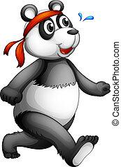 A running panda