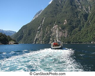 Fiord Milford Sound. Nature reserve Fiordland.New Zealand.