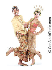 happy traditional java wedding couple husband and wife...