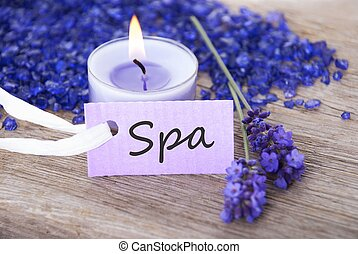 a spa background with spa label - a label with spa on it and...