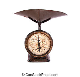 Antique Kitchen Scale - 100 year old kitchen weighing scale,...