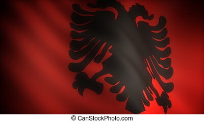 Flag of Albania seamless