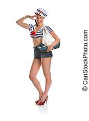 Pin up sailor girl