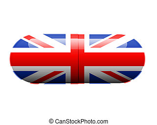 British pill - A pill with the British flag wrapped around...