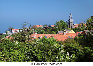 View of Gudhjem on Bornholm