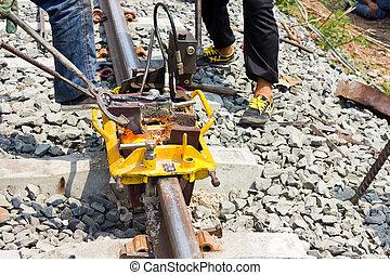 Welding tracks.