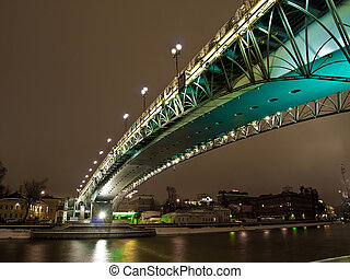 Bridge over the river night view