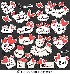 Valentine`s Day label - vector set