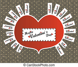 Valentine day card - vector illustration