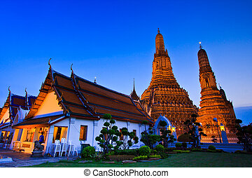 Old Temple Wat Arun in bangkok thailand