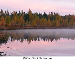 Lustig Lake Sunrise - A sunrise over Lustig Lake