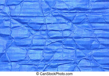 Blue corrugated cardboard stacked