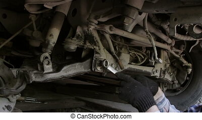 Car repairs - repair front suspension