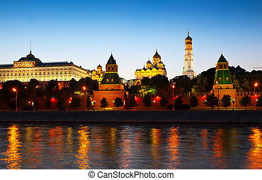 Moscow Kremlin in sunset. Russia - Kind to the Moscow...