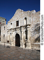 Alamo in Downtown San Antonio - The Alamo mission in...