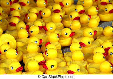 Rubber Ducks - A tub of rubber ducks for a game.