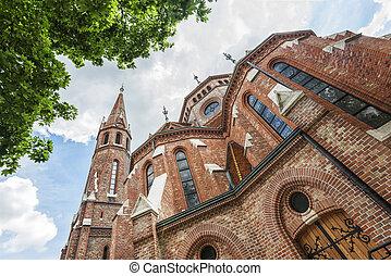 Buda Reformed Church, Budapest - Spring shot of Buda...