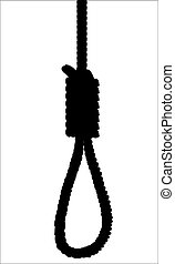 Noose Silhouette - The silhouette of a hangman's noose.