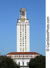 UT Tower in Austin, Texas - UT tower stands tall in downtown...