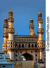 Charminar - Historic Charminar monument against blue sky...