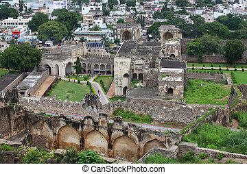 Golkonda fort - Historic Golkonda fort in Hyderabad India