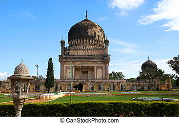 Tombs in Hyderabad - Historic Quli Qutbshahi tombs in...