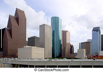 Downtown Houston - downtown houston texas with a cloudy sky