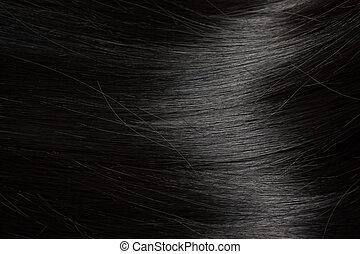 bonito, cabelo, pretas