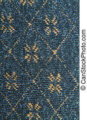 background of a beautiful blue fabric with pattern