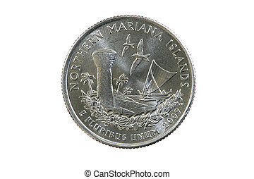 Northern Mariana Quarter - US Quarter coin from the Northern...