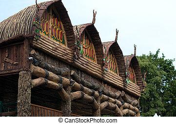 Traditional teepee village