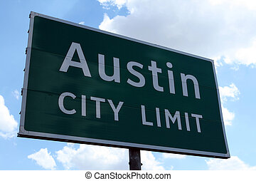 Austin City Limit - An Austin City Limit road sign close up